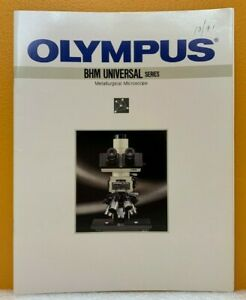 Olympus Optical Co Inc Bhm Universal Series Metallurgical Microscope Catalog