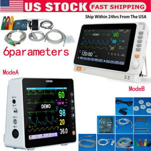 Medical Icu Vital Signs Patient Monitor 6parameter Ecg nibp spo2 temp resp pr hr