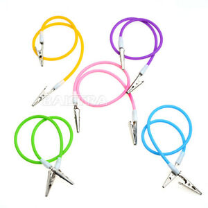 4 Colors Dental Colourful Silicone Instrument Bib Clips Cord Napkin Holders