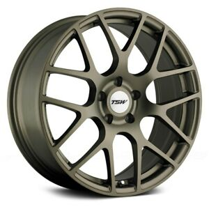 Tsw Nurburgring Wheels 18x8 35 5x120 65 76 Bronze Rims Set Of 4