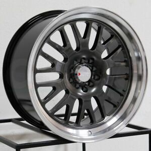 18x11 Xxr 531 5x100 5x114 3 20 Chromium Black Ml Wheels Rims Set 4