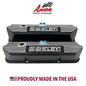 Ford Fe Tall Shelby Valve Covers Black Die cast Aluminum Ansen Usa