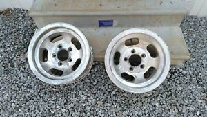 Two Vintage Slot Mag Wheels 14x7 Chevrolet Gm 5 On 4 3 4