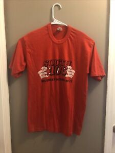Southern Pride Vtg Soft Single Stitch Red 50 50 Xl See Measurements