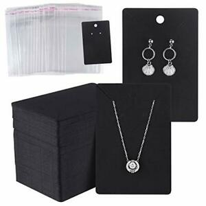 150 Set Earring Display Card With 150 Pcs Self seal Bags Earring Holder Card
