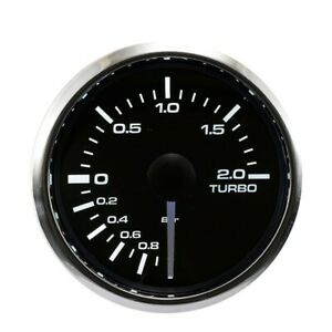 Electronic Boost Gauge 2 Bar Dual Led Backlit White Amber Waterproof Pin style