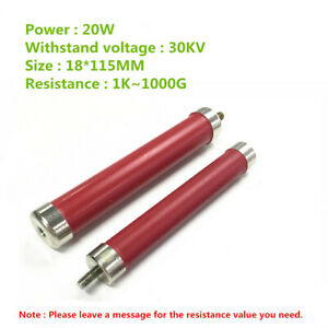 Ri80 20w High Voltage High Frequency Glass Glaze Non inductive Resistance