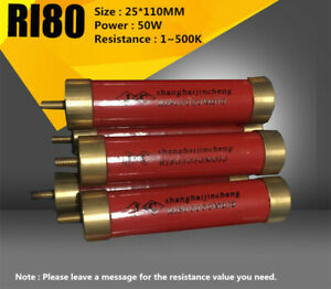 Ri80 50w 1 500k High Voltage High Frequency Glass Glaze Non inductive Resistance