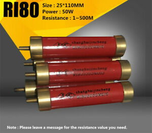 Ri80 50w 1 500m High Voltage High Frequency Glass Glaze Non inductive Resistance