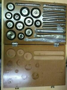 Valve Seat Face Cutter Set 12 Pcs Set For Automotive Industries wooden Box