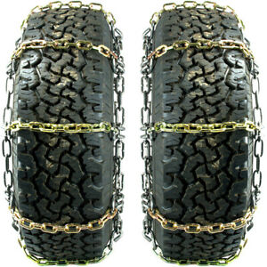 Titan Alloy Square Link Tire Chains On Off Road Ice Snow Mud 8mm 37x12 50 17