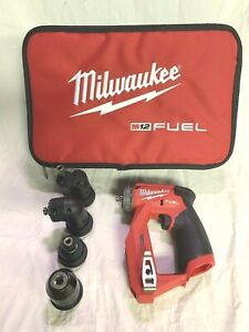 Milwaukee M12 Fuel Installation 3 8 Drill driver 4 in 1 Bag 2505 20 From Kit