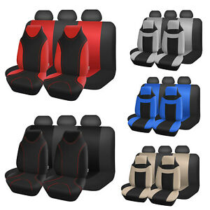 Auto Seat Covers For Car Truck Suv Van Universal Protectors Polyester 12 Color