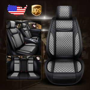 Us 5 seat Car Leather flax Seat Covers For Ford Ecosprt Edge Escape Focus Fusion