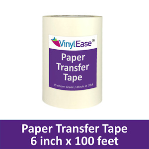 2 Rolls Of 6 In X 100 Ft Paper Application Transfer Tape For Sign Craft Vinyl