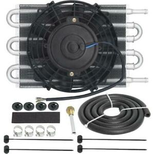 6 Row 3 8 Hose Automatic Engine Transmission Oil Cooler 6 Inch Electric Fan Kit