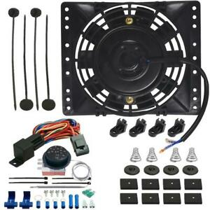 6 Inch Electric Oil Cooler Fan Adjustable Thermostat Temp Controller Switch Kit