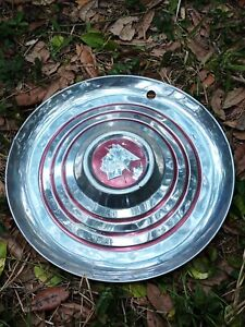1956 Mercury 15 Hubcaps Winged Mercury Hubcap Used Tarnished Dinged