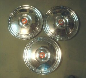3 1955 56 Ford Used 15 Hubcaps