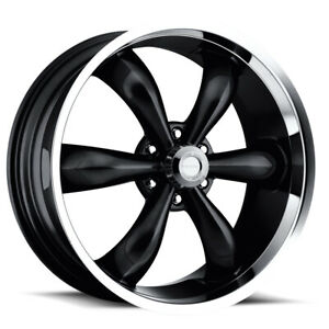 22 Inch 5x115 4 Wheels Rims Vis am 142 22x9 5 18mm Gloss Black