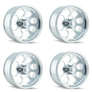 Set 4 17x9 Ion 171 Polished 5x135 Truck Wheels 0mm R5 Lug Rims W Lugs
