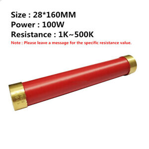 Ri80 High Frequency High Voltage Non inductive Resistance 100w 1k 500k 28 160mm