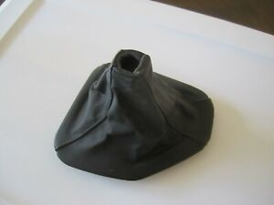 Bmw E39 96 03 Original Black Leather Shift Boot With Ring Nice Orig Condition