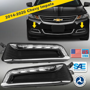 2014 2020 Chevrolet Impala Led Drl Fog Lights Day Running Lamp Wiring Kit Switch