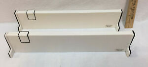 Drawer Organizer Dividers Adjustable Size White Plastic Partition Set 2 Padded