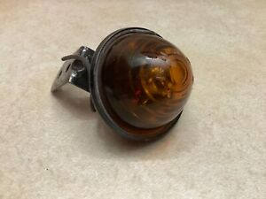 Vintage Clearance Lamp Amber Glass Yankee Lens Saf t ray 90 Marker Light Early