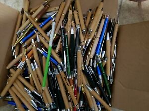 Lot Of 10 Misprint Ink Pens Bulk Pens Bamboo Pen Metal Pen Stylus Wood Pens