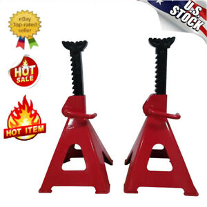 1 Pair 12 Ton Adjustable High Lift Jack Stands Car Auto Truck Garage Tools Set