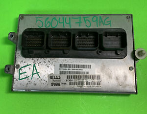2005 2006 Jeep Grand Cherokee Ecm Ecu Computer P56044759ag Warranty