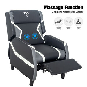 Massage Recliner Gaming Chair Single Lounge Sofa Theater Relax Seat W Footrest
