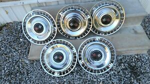 Five 1961 61 Chevrolet Chevy Impala Bel Air Nomad Hubcaps Wheel Covers