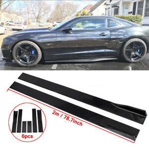 78 7 Side Skirts Extention Add on Body Kit For 2010 2015 Chevy Camaro Lt Ls Ss
