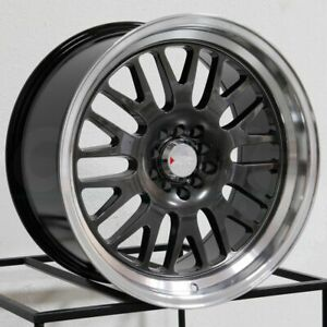 16x8 Xxr 531 4x100 4x114 3 0 Chromium Black Ml Wheels Rims Set 4