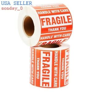 One Roll Fragile Label Handle With Care Stickers 500 Pic Per Roll 2 X 3
