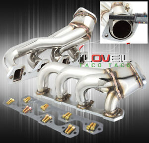 Stainless Steel 2pc 4 1 Exhaust Header Manifold For 1986 1993 Ford Mustang 5 0l