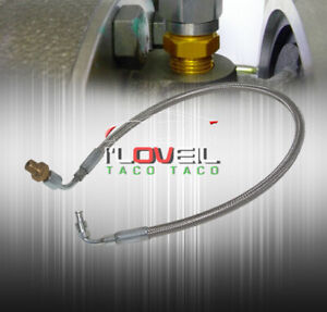 For Acura Honda 24 Turbo Oil Feed Inlet Line Kit T3 T4 Stainless Braided Lines