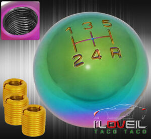 For Eagle M8x1 25 M10x1 5 M12x1 25 Adapter Round Spherical Ball Shift Knob Neo
