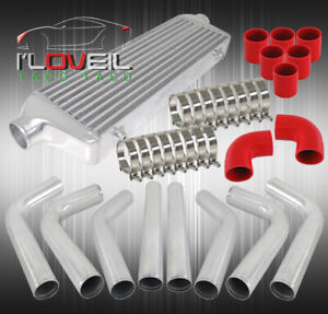 Custom 2 5 Inlet Outlet Fmic Turbo Intercooler Piping Kit Red Silicone Coupler