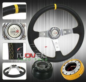 06 2011 Civic Deep Steering Wheel Gold Slim Quick Release Adapter Hub Button