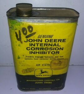 Old Vintage Antique John Deere Advertising Can Internal Corrosion Inhibitor 1 Qt