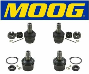 Moog Set Of 2 Upper 2 Lower Ball Joints Fits 1984 Dodge Ramcharger 4wd