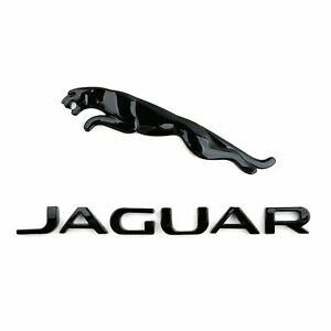 Gloss Black Rear Trunk Letter Leaper Emblem Badge For Jaguar Xj Xf Xe Xk F pace