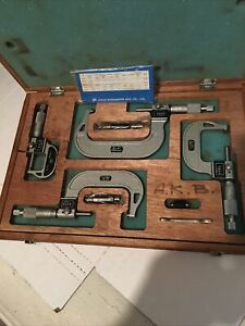 Nsk 4 Piece Digital Micrometer Set In Box 0 1 1 2 2 3 3 4 Not Calibrated