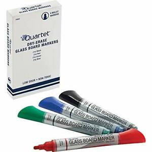 Glass Board Dry Erase Markers By Quartet Premium Bullet Tip Assorted Colors 4