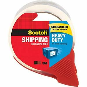 Scotch Heavy Duty Shipping Packaging Tape 1 88 X 54 6 Yards 3 Core Clear Gr