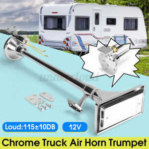 115 10db Truck Air Horn Single Long Tube Trumpet For Big Rigs Universal Auto Usa